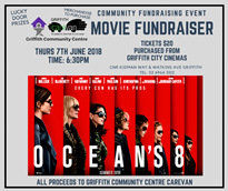 Griffith Community Centre Carevan - Movie Fundraiser