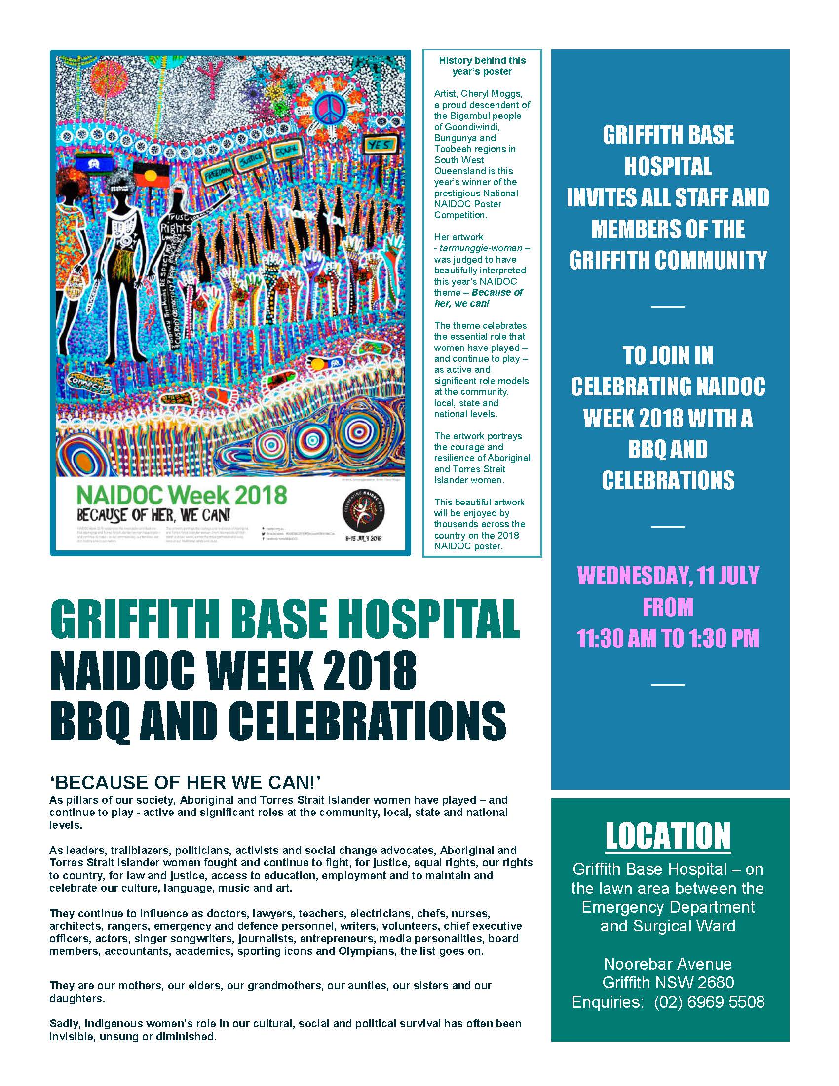 Griffith Base Hospital NAIDOC Week 2018 BBQ and Celebrations