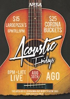 Accoustic Fridays @ The Area Hotel