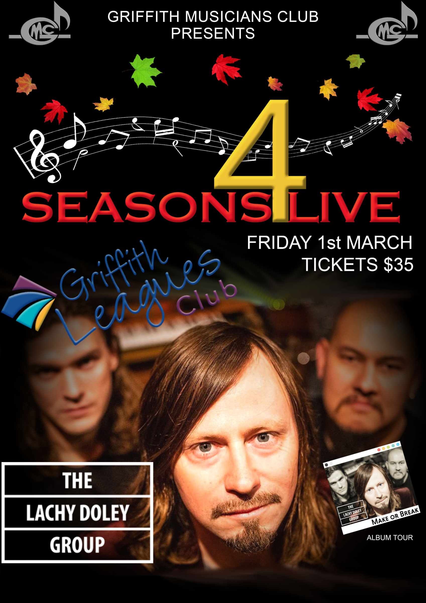 4 Seasons Live - The Lachy Doley Group