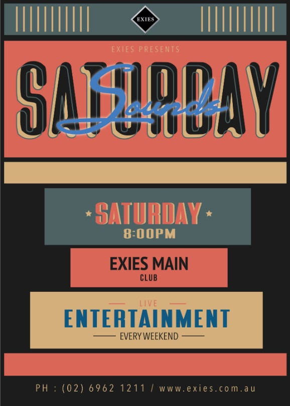 Saturday Sounds at The Exies Main Club
